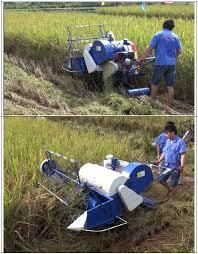 Máy gặt đập liên hợp mini KP4LZ-0.3 hinh anh 1