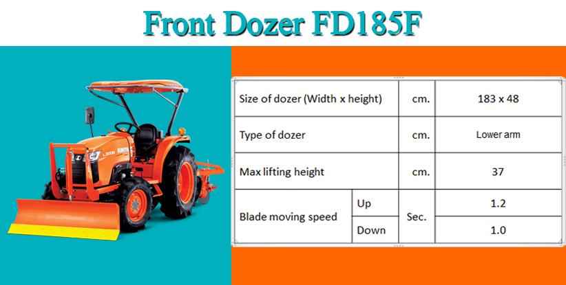 Front Dozer FD185F hinh anh 1