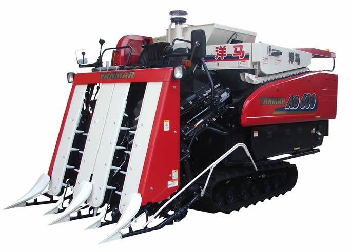 Máy gặt đập liên hợp yanmar AG600 hinh anh 1