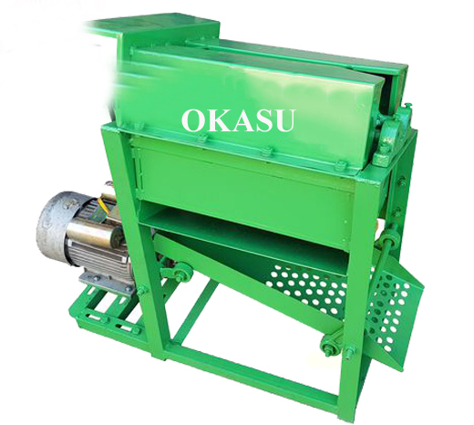 Máy tuốt lạc chạy điện OKASU OKA-220A hinh anh 1