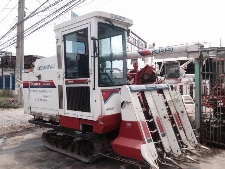 Máy gặt đập liên hợp Yanmar Ca355 máy lạnh hinh anh 1