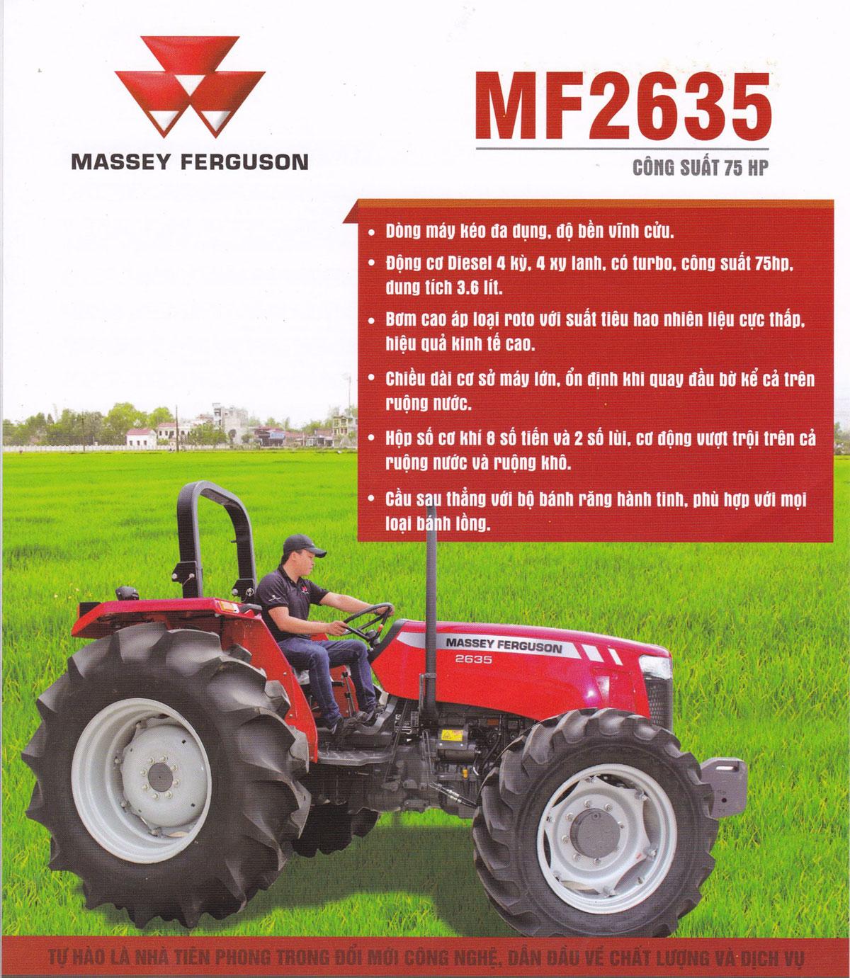 Máy cày Massey Ferguson MF2635 (Nhập khẩu Ấn Độ) hinh anh 3